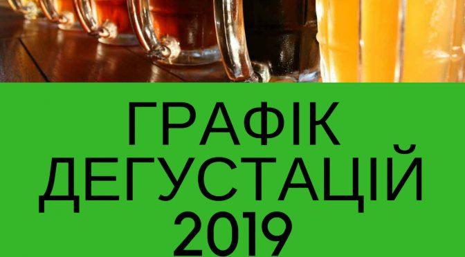 ГРАФІК ДЕГУСТАЦІЙ 2019